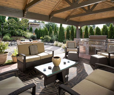 outdoor structure outdoor room landscaping hardscaping design and construction by urban oasis llc near seattle bellevue wa