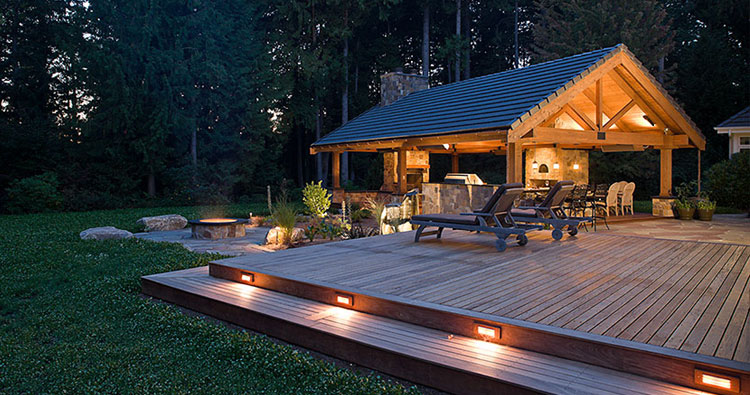 deck and patio spaces design and construction at Outdoor Sammamish Room by Urban Oasis LLC
