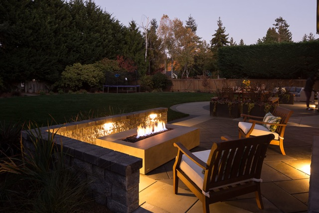 Warmth and Ambiance, Fire Pit, Lighting
