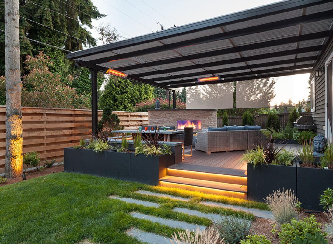 Kirkland Modern Backyard | Urban Oasis Design ... on Contemporary Backyard id=27335